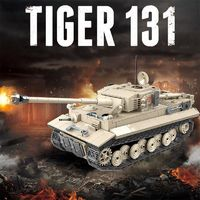 Tiger 131 German Tank 1018 Pieces 6 Soldiers + Weapons $67.90