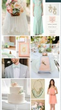 REVEL: Mint Peach Wedding Inspiration