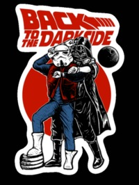 Back To The Darkside Star Wars Back To The Future Mashup Sticker Decal $5.00 https://www.nurdtyme.com