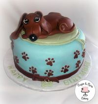 *Dachshund Cake* - Half & Half with Oreo Filling.All Dairy Free.