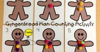 Here is a fun, free Gingerbread Man Counting Activity with a follow up worksheet that can be used for counting or addition in Kindergarten or Pre-K.