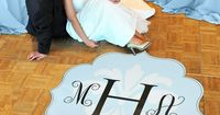 Modern Love Wedding Dance Floor Decals. I love this idea I'm getting one for our first dance :-)