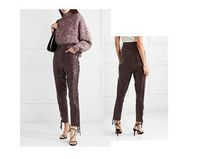 women leather pant