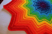 Ravelry: Project Gallery for Rainbow Ripple Baby Blanket pattern by Celeste Young ~ free pattern �›�