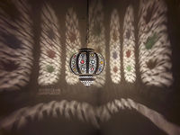 Small Moroccan Silver Hanging Lampshade Lamp $115.00