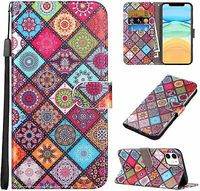 Have one to sell? Sell now- Have one to sell? iPhone 11 Phone Case 6.1 INCH Wallet Credit Card Holder Mandala Boho Pattern