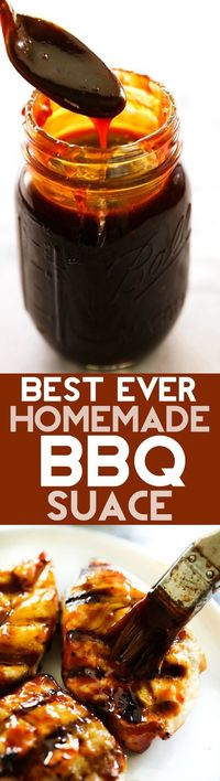 This will be THE BEST BBQ Sauce you ever have! It is deliciously sweet and tangy with a flavor that can't be beat and is super easy to make! BBQ Sauce is such a