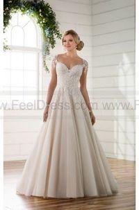 aec38cd90243 Essense of Australia Illusion Sleeve Wedding Dress With Keyhole Back Style  D2253