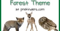 Pre-K & Preschool theme ideas for learning about forest animals, trees, and leaves. Find more Forest Activities for Pre-K on the category page. What we learn ab