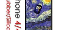 I found 'iPhone 4 4S Rubber Silicone Case - Tardis Dr Who Phone Call Box Starry Night (Color black)' on Wish, check it out!