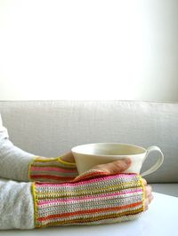 Whits Knits: Crocheted Striped Hand Warmers - The Purl Bee - freebie pattern, thanks so xox