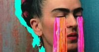 frida - love this collage effect with enhanced coloured areas
