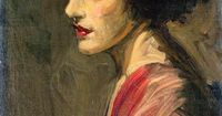 Portrait of a Lady (also known as Mrs. Ralph Peto) Sir John Lavery, R.A.