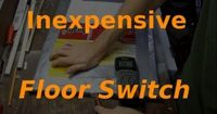 Halloween Hacks #1 - Inexpensive Floor Switch Pressure Plate Very cool idea to add to the haunted house. even to turn on a light near the entrance of a room/area to show a freaky scene. Or just to blind them. OHH, it would be cool to do to trigger a camer...