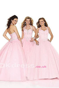 Ball Gown Halter Beading 2016 Quinceanera Dresses