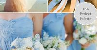 Wedding Colors | Shades of Pale Blue, Peach & Pink. http://www.theperfectpalette.com/2013/08/wedding-colors-i-love-shades-of-pale.html