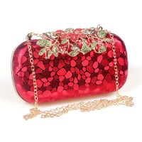 Women Rhinestones Flower Evening Bag $59.04
