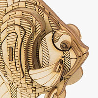 3D Wooden Assembly Puzzle, Wood Craft Kit, Angel Fish Model $23.10
