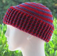 Chunky 2 Color Spiral Hat ~ free pattern �›�