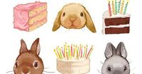 kathryn selbert Bunnies and Birthday Cake image for Melody