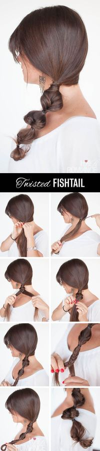 "Twisted Fishtail �€"" Side braid hairstyle tutorial"