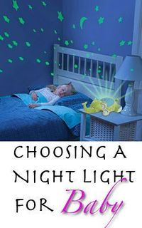 Advice for parents on choosing a baby night light that will help the baby sleep through the night, with reviews on LED, projection, and portable night lights.