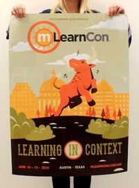 mLearnCon 2015 Conference & Expo brochure poster. Where's your poster hanging?
