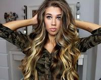 Brond ombre on long layers