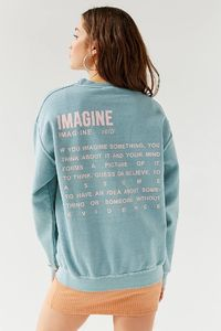 Shop UO Imagine Crew-Neck Sweatshirt at Urban Outfitters today. We carry all the latest styles, colors and brands for you to choose from right here.