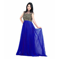 Shopkio Home Deal Blue Color Fancy And Stylish Long Gown