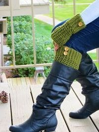 For the Love of Crochet Along: Free Boot Cuffs Pattern