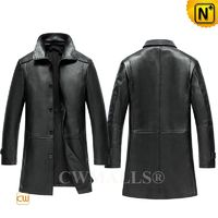 CWMALLS® Madison Mens Custom Leather Coat Black CW808025[Father's Day Gift, Personal Tailor]