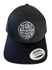 THIGHBRUSH® BEARD RIDING COMPANY - Trucker Snapback Hat - Black with Silver