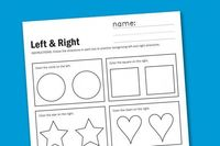 Left and Right Worksheet