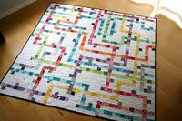 Tokyo Subway Map Quilt. Wonderful! http://www.ohfransson.com/oh fransson/2010/08/tokyo-subway-map-quilt-basics-and-supplies.html