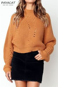 Pavacat Warmest Moment Frayed Cable Knit Sweater - Brown $34.00