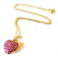 Valentine's Day Heart pendant necklace, Women's jewelry, women's gift, Daughter gift $27.00