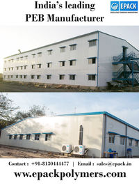 There are various PEB manufacturers in India but EPACK Polymers Private Limited is one of the leading PEB company and manufactures world class steel buildings for customers. http://www.epackpolymers.com/peb.html