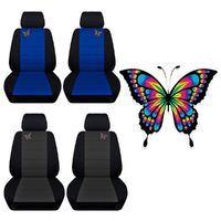 Two Front Seat Covers Fits a Toyota Corolla with a Butterfly Embroidered on the Insert of the Seat Covers Airbag Friendly $97.95