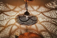 Moroccan pendent Chandelier - Pendent lamp - Hanging Lamp - Copper Pendant Light $185.00
