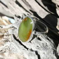 Size 6 Natural Nevada Turquoise Gemstone and Sterling Silver Ring $29.66
