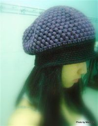 "This crochet hat is fun! ""Mulberry "" slouchy - Crochet Me"