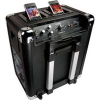 This is what we need to outdo the little brats in the campground next year at the state livestock show!! Mobile DJ Speaker for iPod/iPhone