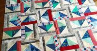 Free Tutorial - Summer Breeze Block and Quilt by Sandy
