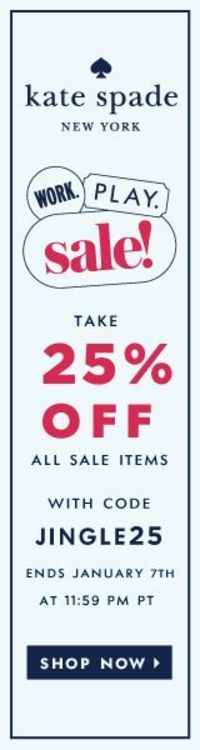 enjoy 25% off ALL sale items at