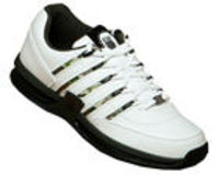 K-Swiss Appian White/Camo Leather Trainers K-Swiss Appian White/Camo Leather TrainersColourway; White Camo BlackWhite leather uppers with trademark K-Swiss 5 stripes in camo style.Synthetic thick sole in black with white pattern to outsole http://www.comp...