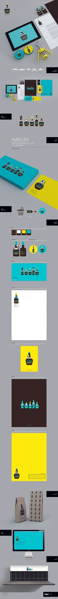 LiquorStache on Behance #identity #packaging #branding #marketing PD