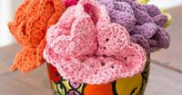 Dishcloths Bouquet - free crochet pattern