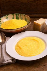 Polenta is basically cornmeal mush, and it can be made with any kind of cornmeal, ground coarse, medium or fine (You don't need bags marked �€œpolenta.�€) As with