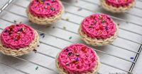 Yummy! These crochet frosted cookies by Repeater Crafter Me made with Vanna's Choice are good enough to eat!